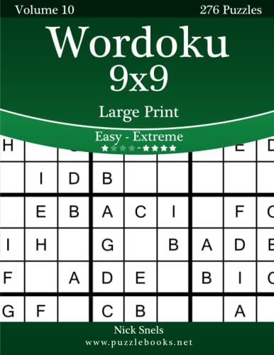 9781505677171: Wordoku 9x9 Large Print - Easy to Extreme