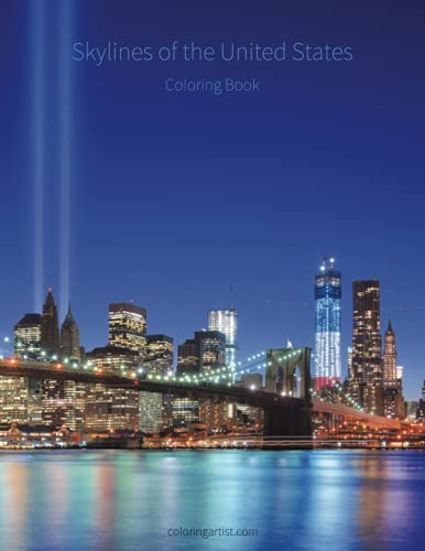 9781505766165: Skylines Of The United States Coloring Book (Volume 1)