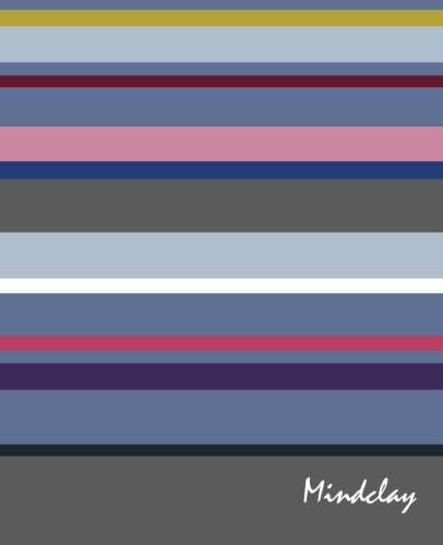 9781505911091: Mindclay: Modern Creative Notebook, Large, Plain, Pink Purple Stripes, Soft Cover (7.5 x 9.25) (Doodle, Draw & Sketch Journal Series)