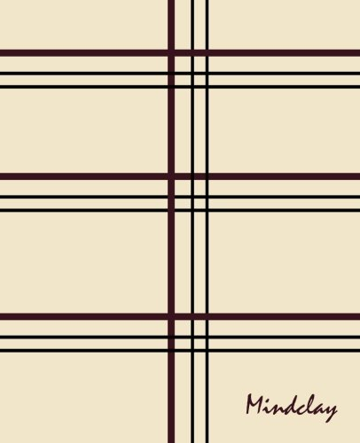 9781505920017: Mindclay: Modern Creative Notebook, Large, Plain, Black Red Stripes, Soft Cover (7.5 x 9.25) (Doodle, Draw & Sketch Journal Series)