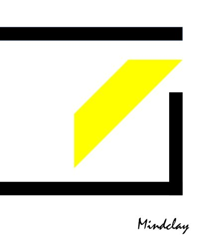 9781505920154: Mindclay: Modern Creative Notebook, Large, Plain, Black and Yellow, Soft Cover (7.5 x 9.25) (Doodle, Draw & Sketch Journal Series)