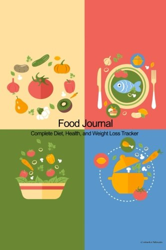 Food Journal: Complete Diet, Health, and Weight Loss Tracker - Colorful Meals: Recordkeeper Press