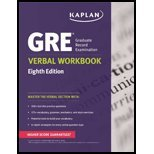9781506200200: Kaplan GRE Verbal Workbook Eighth Edition