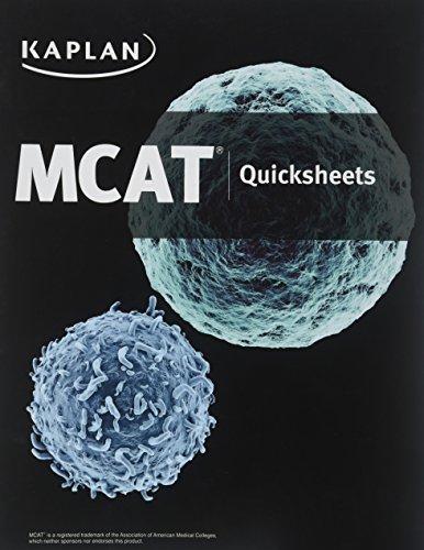 MCAT Quicksheets: Macnow, alexander Stone,