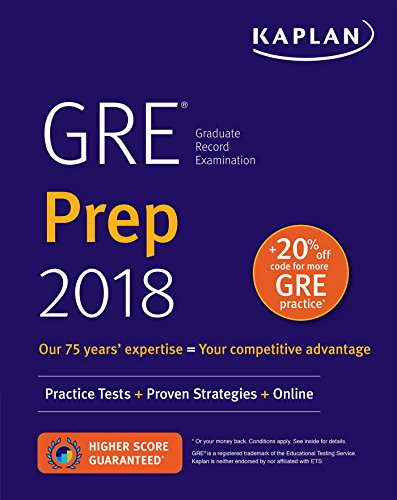 9781506220383: GRE Prep 2018: Practice Tests + Proven Strategies + Online (Kaplan Test Prep)