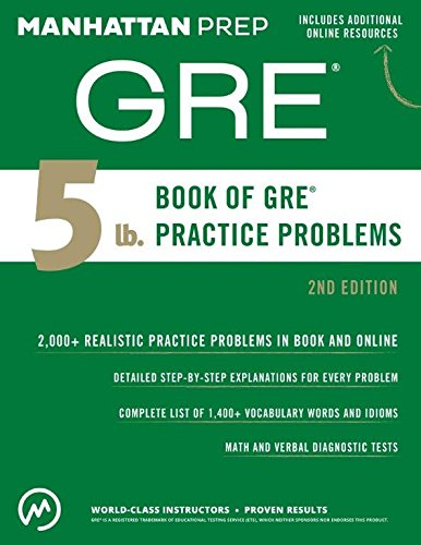 9781506234441: 5 lb. Book of GRE Practice Problems
