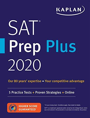 9781506236957: Kaplan SAT Prep Plus 2020: 5 Practice Tests + Proven Strategies + Online