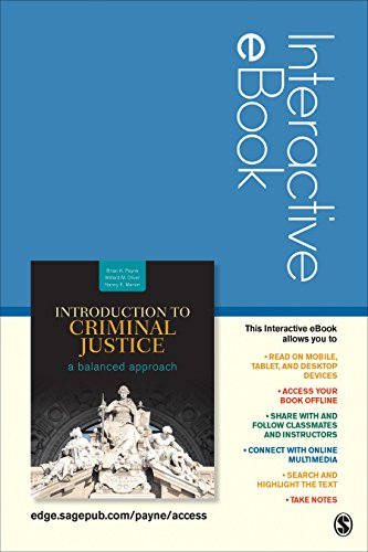 9781506311319: Introduction to Criminal Justice Interactive eBook Student Version: A Balanced Approach