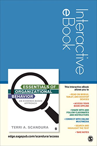 9781506324357: Essentials of Organizational Behavior Interactive eBook Student Version: An Evidence-Based Approach
