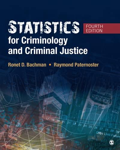 9781506326108: Statistics for Criminology and Criminal Justice