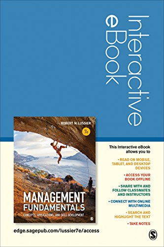 9781506332109: Management Fundamentals Interactive eBook Student Version: Concepts, Applications, and Skill Development