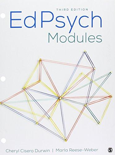 BUNDLE: Durwin: EdPsych Modules 3e + Durwin: EdPsych Modules Interactive eBook 3e 9781506379470 This bundle includesDurwin: EdPsych Modules 3e (Loose Leaf) and Durwin: EdPsych Modules Interactive eBook 3e.