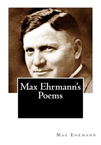 9781507529737: Max Ehrmann's Poems