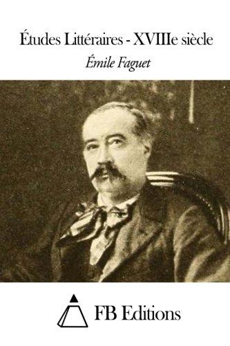 9781507826294: Études Littéraires - XVIIIe siècle (French Edition)