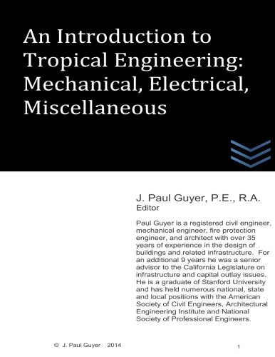 9781507893357: An Introduction to Tropical Engineering: Mechanical, Electrical, Miscellaneous