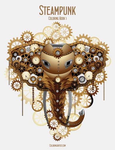 9781507894101: Steampunk Coloring Book 1