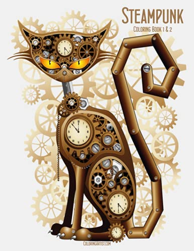 9781507894224: Steampunk Coloring Book 1 & 2