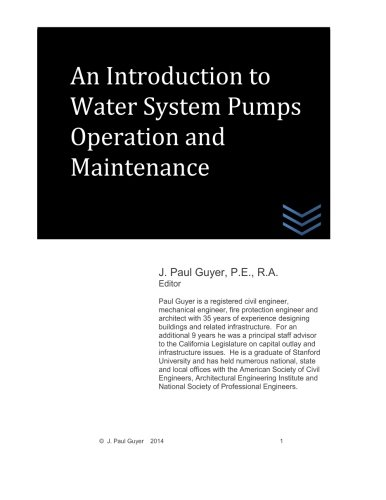 9781507898376: An Introduction to Water System Pumps Operation and Maintenance