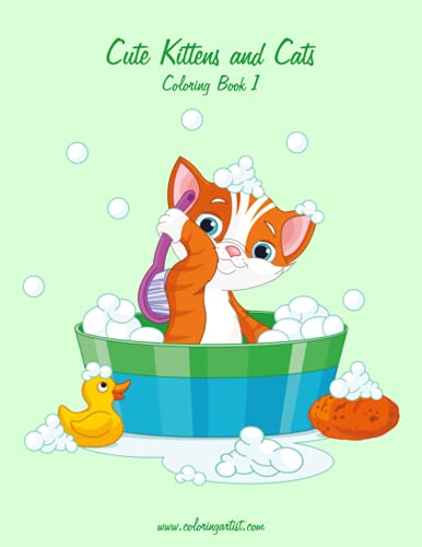 9781508408208: Cute Kittens and Cats Coloring Book 1 (Volume 1)