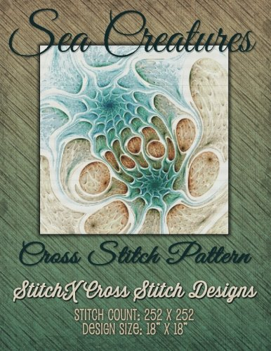 9781508426196: Sea Creatures Fractal Cross Stitch Pattern
