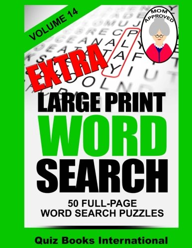 9781508531494: Extra Large Print Word Search Volume 14