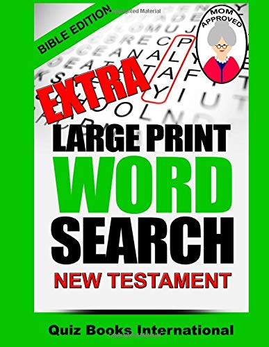 Extra Large Print Word Search Bible Edition - New Testament: Books International, Quiz