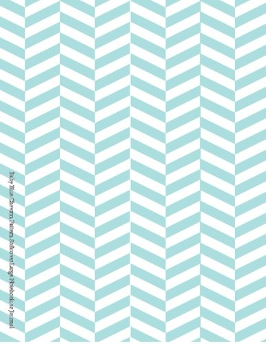 9781508573456: Baby Blue Chevron Pattern Softcover Large Notebook or Journal (Beautiful Journals, Diaries, & Notebooks) (Volume 60)