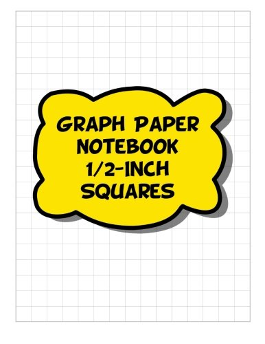 9781508810735 graph paper notebook 1 2 inch squares 2 squares