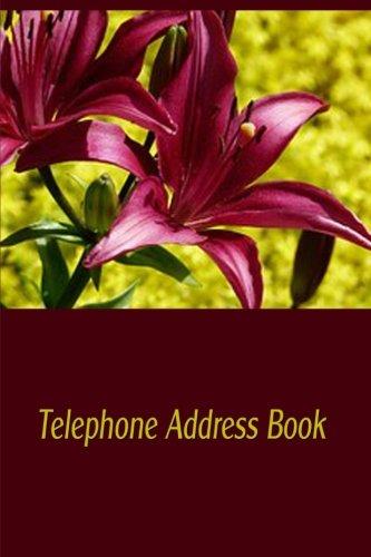 Telephone Address Book: Store Hundreds of Telephone: Journals, Blank Books