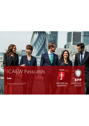 9781509702435: ICAEW Law: Passcards