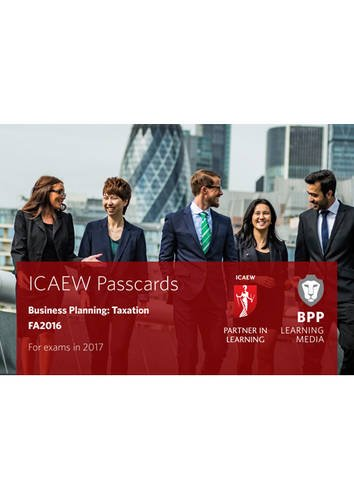 9781509702480: ICAEW Business Planning: Taxation: Passcards