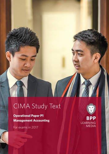 9781509706860: CIMA P1 Management Accounting: Study Text