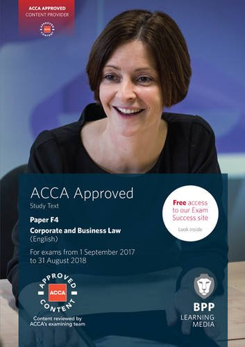 9781509708505: ACCA F4 Corporate and Business Law (English): Study Text