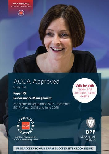 9781509708529: ACCA F5 Performance Management: Study Text