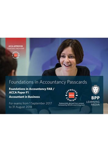 9781509711390: FIA Foundations of Accountant in Business FAB (ACCA F1): Passcards
