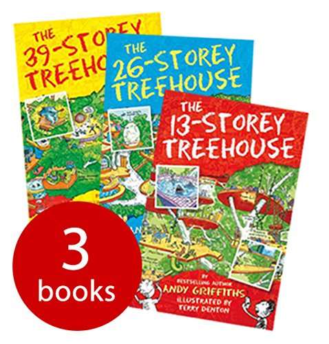 9781509813346: Andy Griffiths The 13-Storey Treehouse Collection Set Pack, (The 13-storey Treehouse, the 26-storey Treehouse and the 39-storey Treehouse)