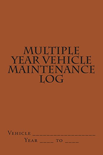 9781511530781: Multiple Year Vehicle Maintenance Log: Brown Cover (S M Car Journals)