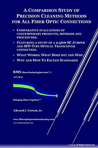 9781511546843: Comparison Study of Precision Cleaning Methods for All Fiber Optic Connection: New Edition with Added Images and Test Results