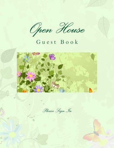 Open House Guest Book: Open House