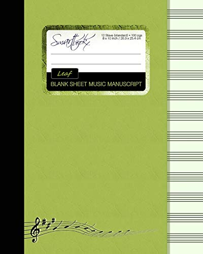 9781511566957: Blank Sheet Music: Music Manuscript Paper / Staff Paper / Musicians Notebook [ Book Bound (Perfect Binding) * 12 Stave * 100 pages * Large * Leaf ] (Composition Books - Music Manuscript Paper)