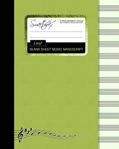 Blank Sheet Music: Music Manuscript Paper / Staff Paper / Musicians Notebook [ Book Bound...