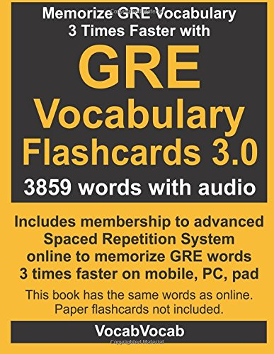 9781511635004: GRE Vocabulary Flashcards 3.0: 3859 GRE Words with Audio