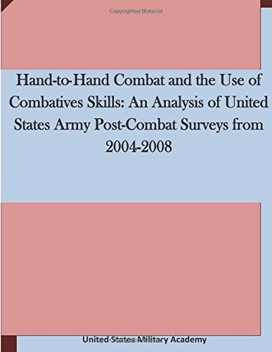 9781511636520: Hand-to-Hand Combat and the Use of Combatives Skills: An Analysis of United States Army Post-Combat Surveys from 2004-2008
