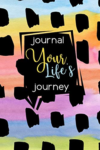 9781511753135: Journal Your Life's Journey: Colorful Abstract Background, Lined Journal, 6 x 9, 100 Pages