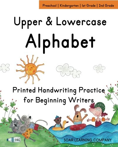 9781511823333: Upper & Lowercase Alphabet: Printed Handwriting Practice for Beginning Writers