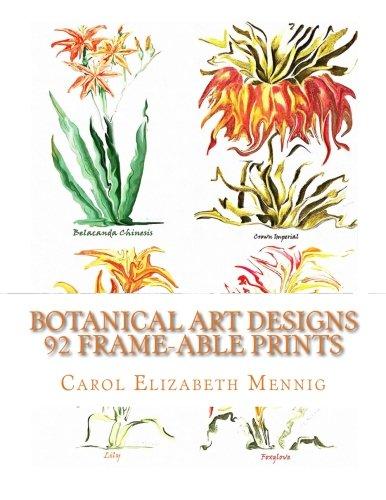 9781511882514: Botanical Art Designs - 92 Frame-able Prints