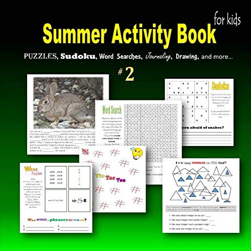9781511918374: Summer Activity Book for kids #2: Puzzles, Sudoku, Word searches, Journaling, Drawing, and more