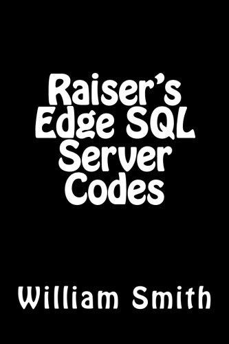 9781511922401: Raiser's Edge SQL Server Codes