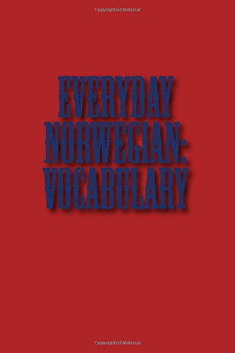 9781511948227: Everyday Norwegian: Vocabulary (Norwegian Edition)