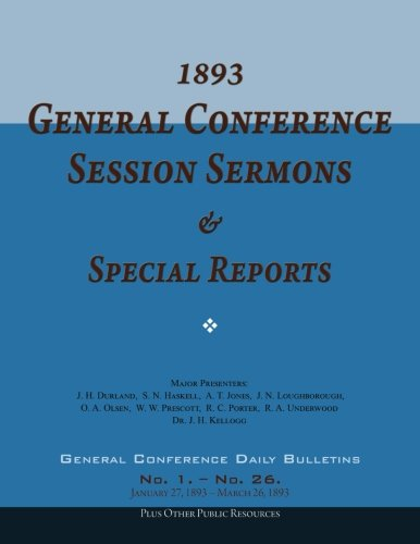 9781511954273: 1893 General Conference Session Sermons & Special Reports